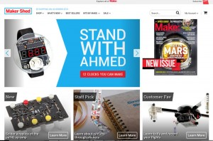Makershed Stand with Ahmed